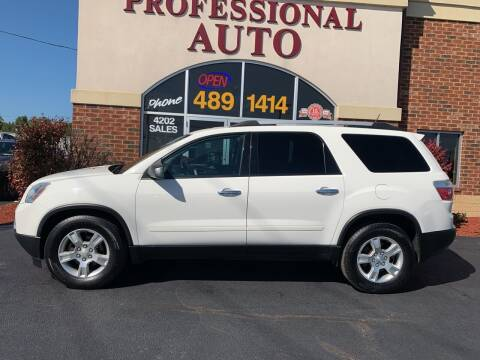 2012 GMC Acadia for sale at Professional Auto Sales & Service in Fort Wayne IN