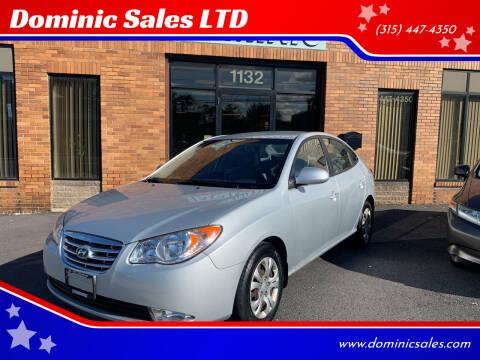 2010 Hyundai Elantra for sale at Dominic Sales LTD in Syracuse NY