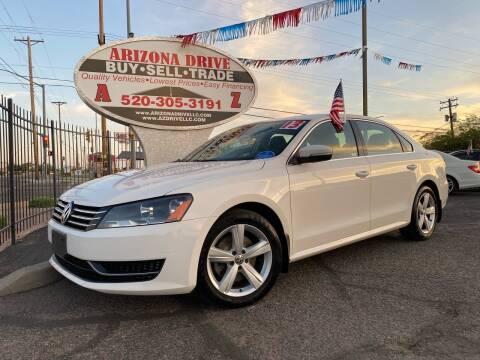 2013 Volkswagen Passat for sale at Arizona Drive LLC in Tucson AZ