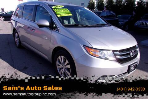 2015 Honda Odyssey for sale at Sam's Auto Sales in Cranston RI