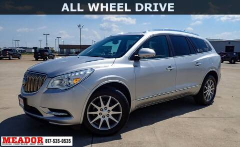 2015 Buick Enclave for sale at Meador Dodge Chrysler Jeep RAM in Fort Worth TX