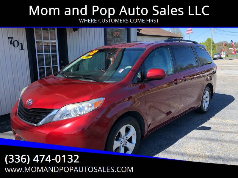 2012 Toyota Sienna for sale at Mom and Pop Auto Sales LLC in Thomasville NC