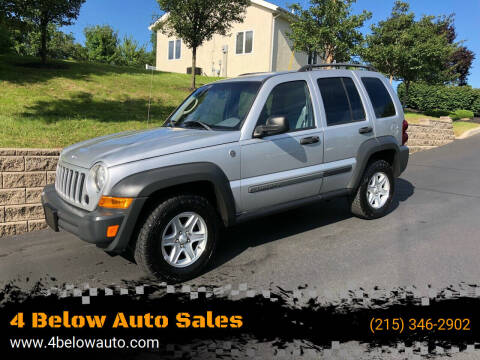 2006 Jeep Liberty for sale at 4 Below Auto Sales in Willow Grove PA