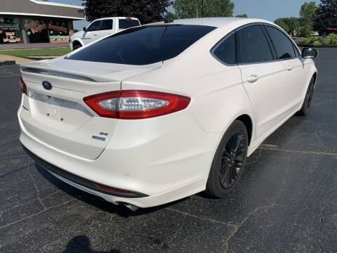 2014 Ford Fusion for sale at Hawkins Motors Sales in Hillsdale MI