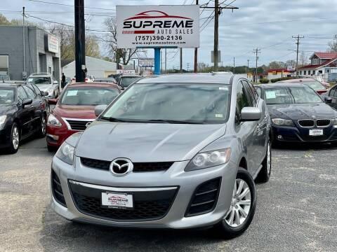 2011 Mazda CX-7 for sale at Supreme Auto Sales in Chesapeake VA