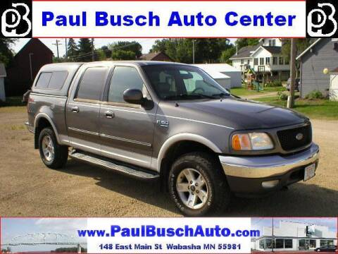 2002 Ford F-150 for sale at Paul Busch Auto Center Inc in Wabasha MN
