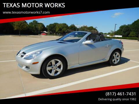 2006 Mercedes-Benz SLK for sale at TEXAS MOTOR WORKS in Arlington TX