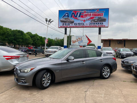 2014 Infiniti Q50 Hybrid for sale at ANF AUTO FINANCE in Houston TX