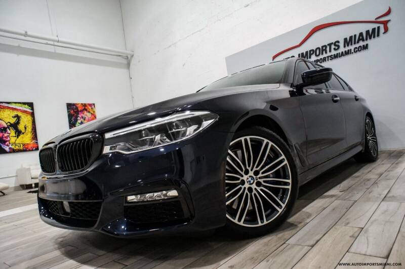 2017 BMW 5 Series for sale at AUTO IMPORTS MIAMI in Fort Lauderdale FL