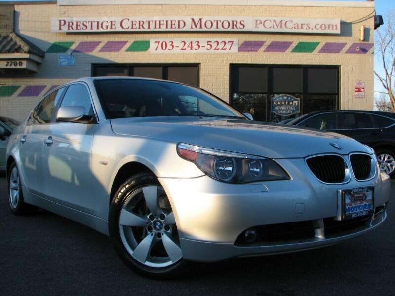 2005 BMW 5 Series for sale at Prestige Certified Motors in Falls Church VA