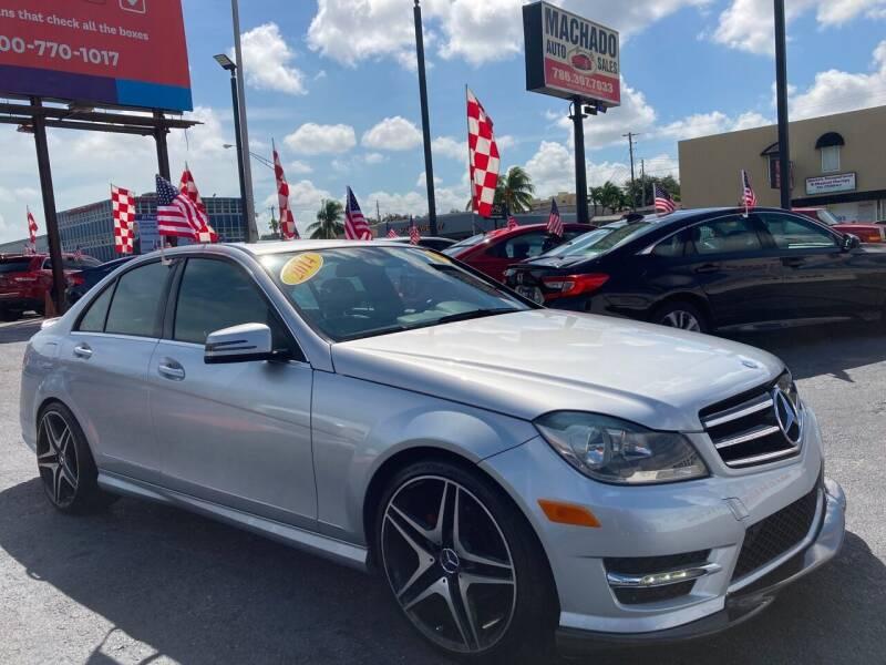 2014 Mercedes-Benz C-Class for sale at MACHADO AUTO SALES in Miami FL