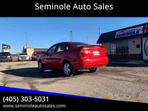 2007 Ford Focus for sale at Seminole Auto Sales in Seminole OK