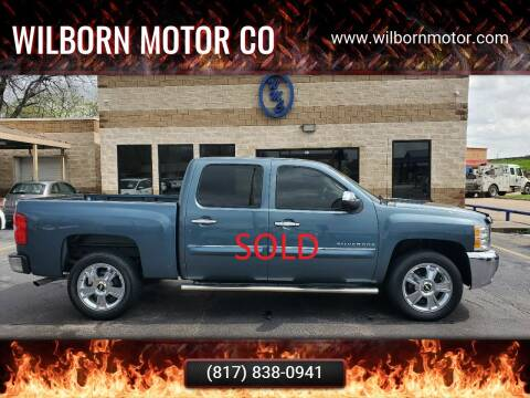 2012 Chevrolet Silverado 1500 for sale at Wilborn Motor Co in Fort Worth TX