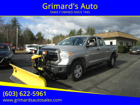 2014 Toyota Tundra for sale at Grimard's Auto in Hooksett, NH