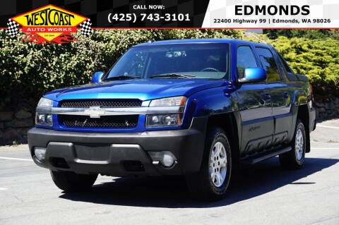2003 Chevrolet Avalanche for sale at West Coast Auto Works in Edmonds WA