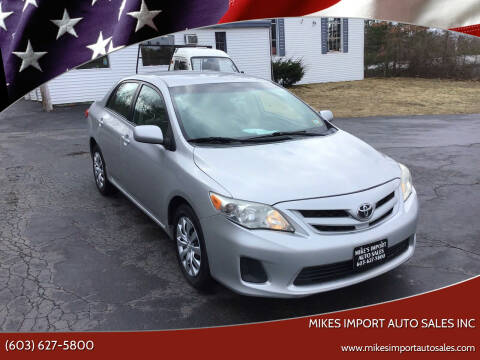 2012 Toyota Corolla for sale at Mikes Import Auto Sales INC in Hooksett NH