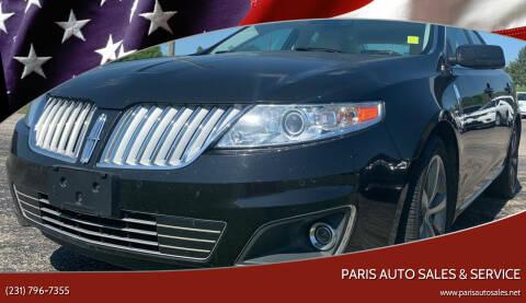 2009 Lincoln MKS for sale at Paris Auto Sales & Service in Big Rapids MI