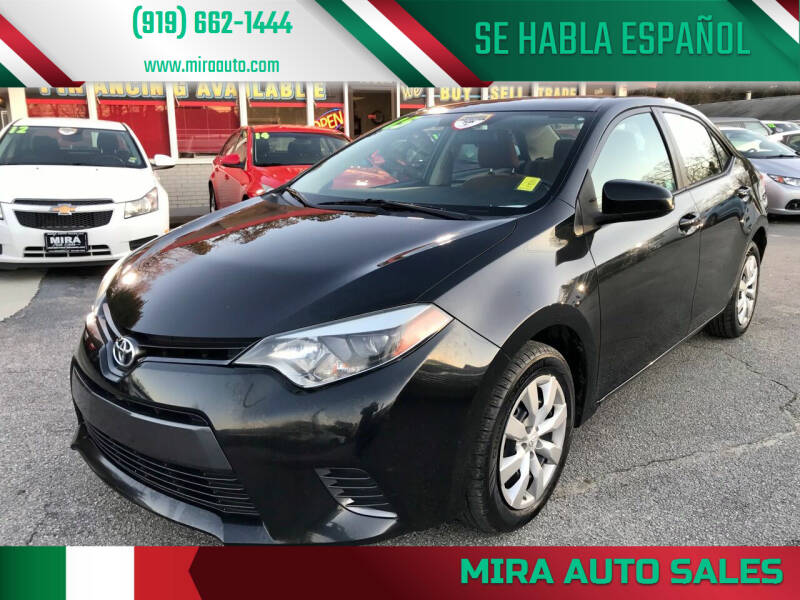 2015 Toyota Corolla for sale at Mira Auto Sales in Raleigh NC