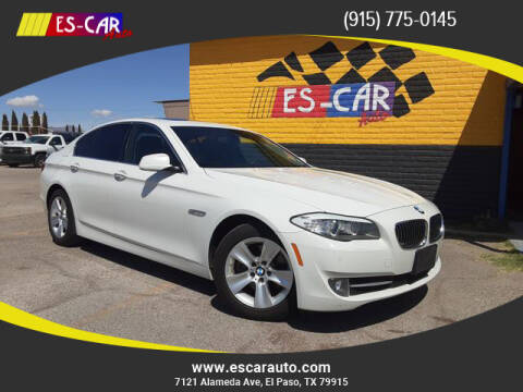 2013 BMW 5 Series for sale at Escar Auto in El Paso TX