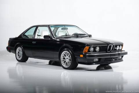 1987 BMW M6 for sale at Motorcar Classics in Farmingdale NY