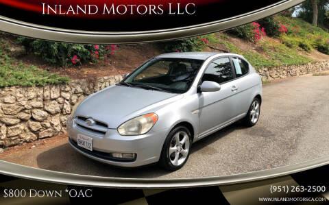 2007 Hyundai Accent for sale at Inland Motors LLC in Riverside CA