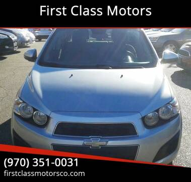 2012 Chevrolet Sonic for sale at First Class Motors in Greeley CO