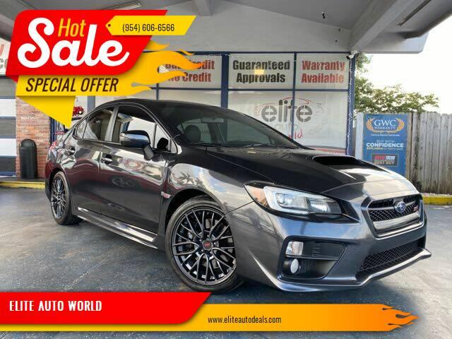 2015 Subaru WRX for sale at ELITE AUTO WORLD in Fort Lauderdale FL