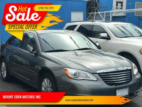 2013 Chrysler 200 for sale at MOUNT EDEN MOTORS INC in Bronx NY