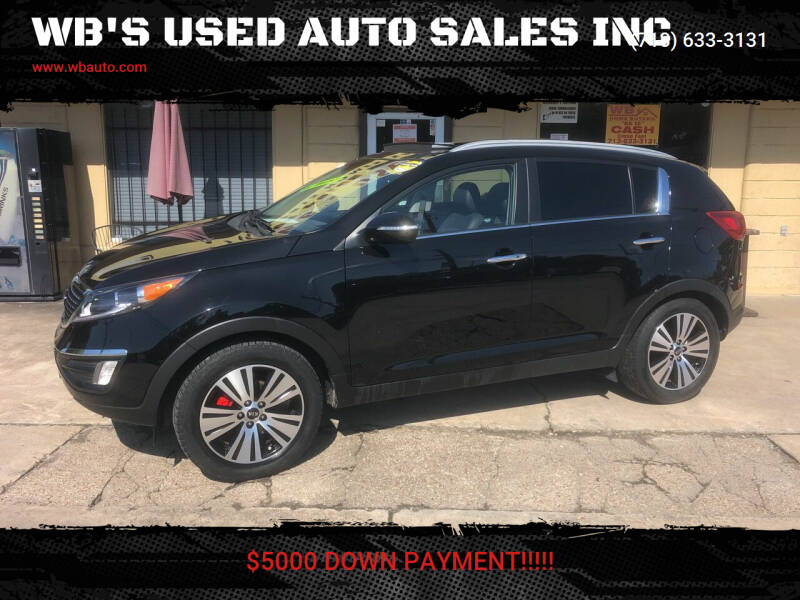 2015 Kia Sportage for sale at WB'S USED AUTO SALES INC in Houston TX