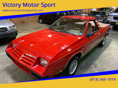 1982 Dodge Rampage for sale at Victory Motor Sport in Paterson NJ