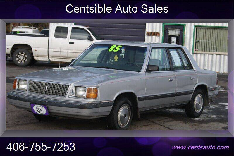 1985 Plymouth Reliant K for sale in Kalispell, MT