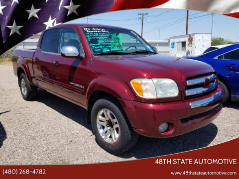 2005 Toyota Tundra for sale at 48TH STATE AUTOMOTIVE in Mesa AZ