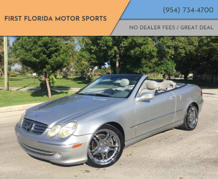 2005 Mercedes-Benz CLK for sale at FIRST FLORIDA MOTOR SPORTS in Pompano Beach FL