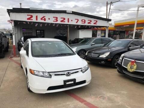 2007 Honda Civic for sale at East Dallas Automotive in Dallas TX