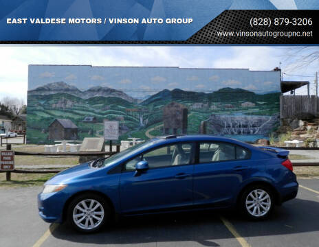 2012 Honda Civic for sale at EAST VALDESE MOTORS / VINSON AUTO GROUP in Valdese NC