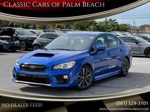 2018 Subaru WRX for sale at Classic Cars of Palm Beach in Jupiter FL