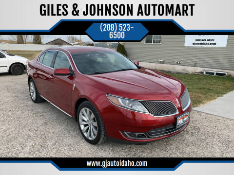 2013 Lincoln MKS for sale at GILES & JOHNSON AUTOMART in Idaho Falls ID