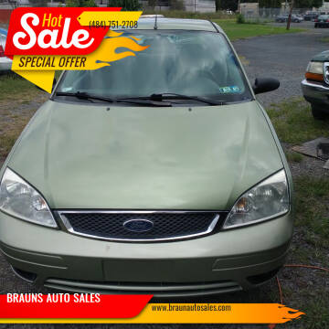 2007 Ford Focus for sale at BRAUNS AUTO SALES in Pottstown PA