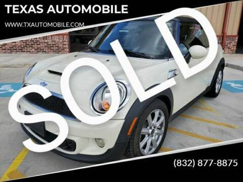 2012 MINI Cooper Convertible for sale at TEXAS AUTOMOBILE in Houston TX