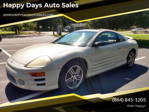 2005 Mitsubishi Eclipse for sale at Happy Days Auto Sales in Piedmont SC