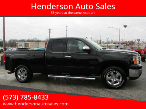 2012 GMC Sierra 1500 for sale at Henderson Auto Sales in Poplar Bluff MO