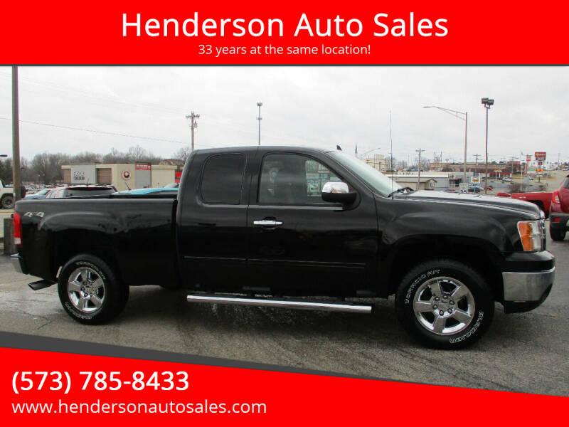 2012 GMC Sierra 1500 for sale at Henderson Auto Sales in Poplar Bluff MO