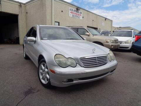 2002 Mercedes-Benz C-Class for sale at ACH AutoHaus in Dallas TX