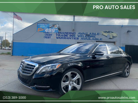 2016 Mercedes-Benz S-Class for sale at Pro Auto Sales in Lincoln Park MI