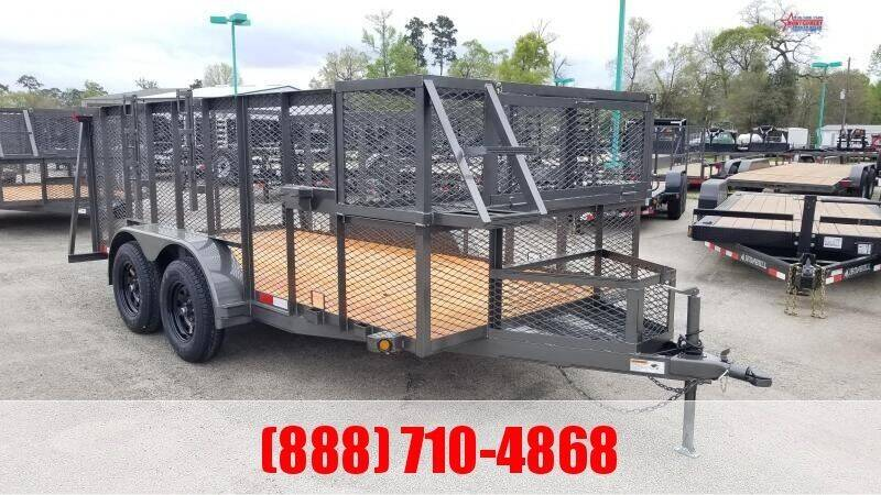 """2021 C-5 76"""" X 14' Landscape Trailer for sale at Montgomery Trailer Sales in Conroe TX"""