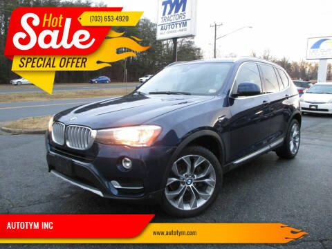 2017 BMW X3 for sale at AUTOTYM INC in Fredericksburg VA