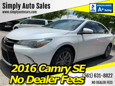 2016 Toyota Camry for sale at Simply Auto Sales in Palm Beach Gardens FL