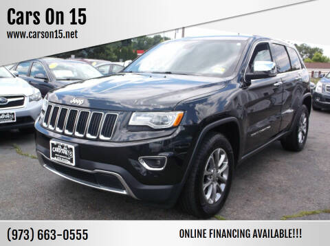 2016 Jeep Grand Cherokee for sale at Cars On 15 in Lake Hopatcong NJ