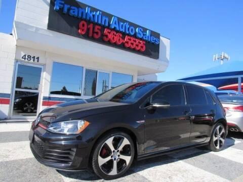 2015 Volkswagen Golf GTI for sale at Franklin Auto Sales in El Paso TX