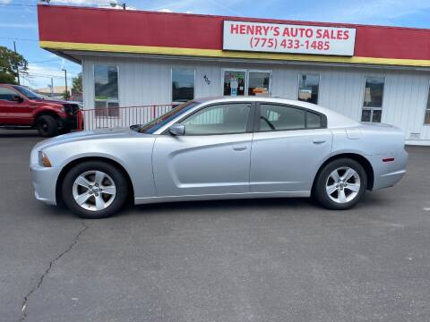 2012 Dodge Charger for sale at Henry's Autosales, LLC in Reno NV